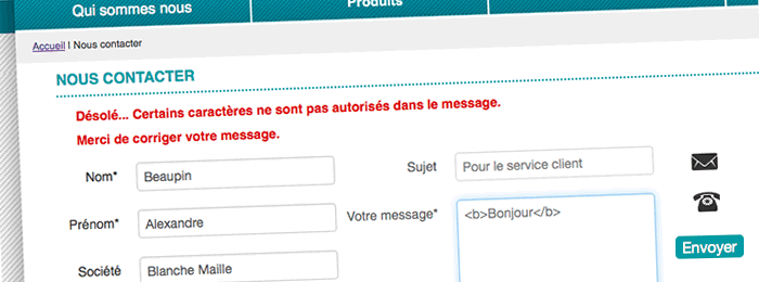 Un formulaire Anti Spam, protection anti-robots