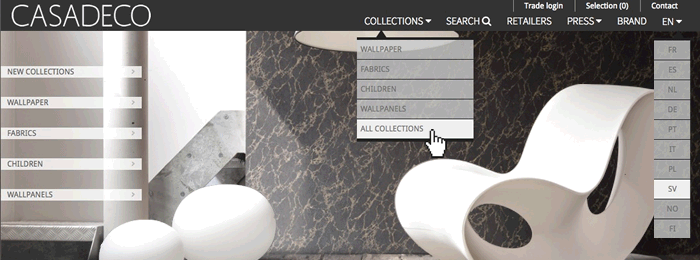 Le site web de CASADECO en V4