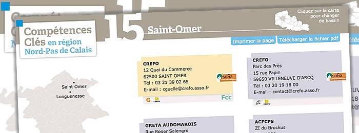 Mini site web C2RP Nord pas de Calais