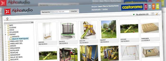 La gestion de la banque d'images de Castorama avec l'application en ligne Alpha Studio
