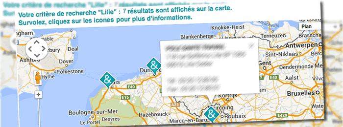 gMap3 un développement franco belge pour l'affichage de cartes Google avec jQuery